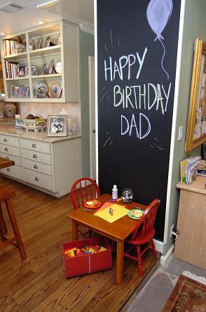 Happy Birthday Wall Chair