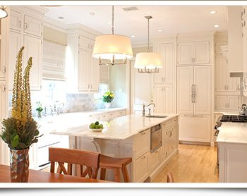 Highland Park kitchen redesign in white and beige