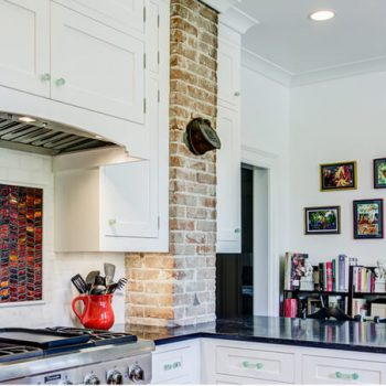 Custom kitchen design with backsplash and countertops