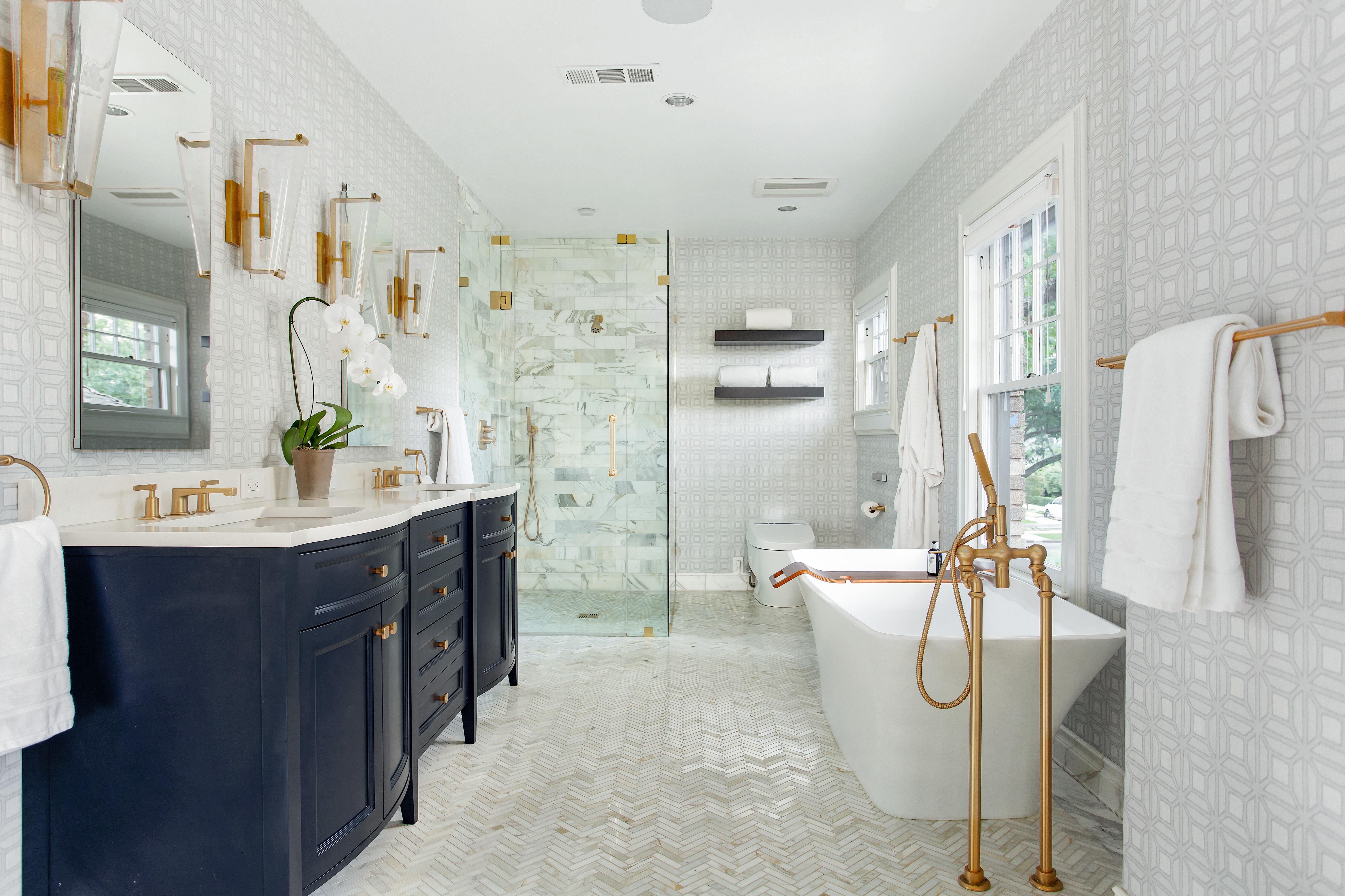 First Friday Feature A Tudor Master Bath Reborn Kitchen Design Concepts