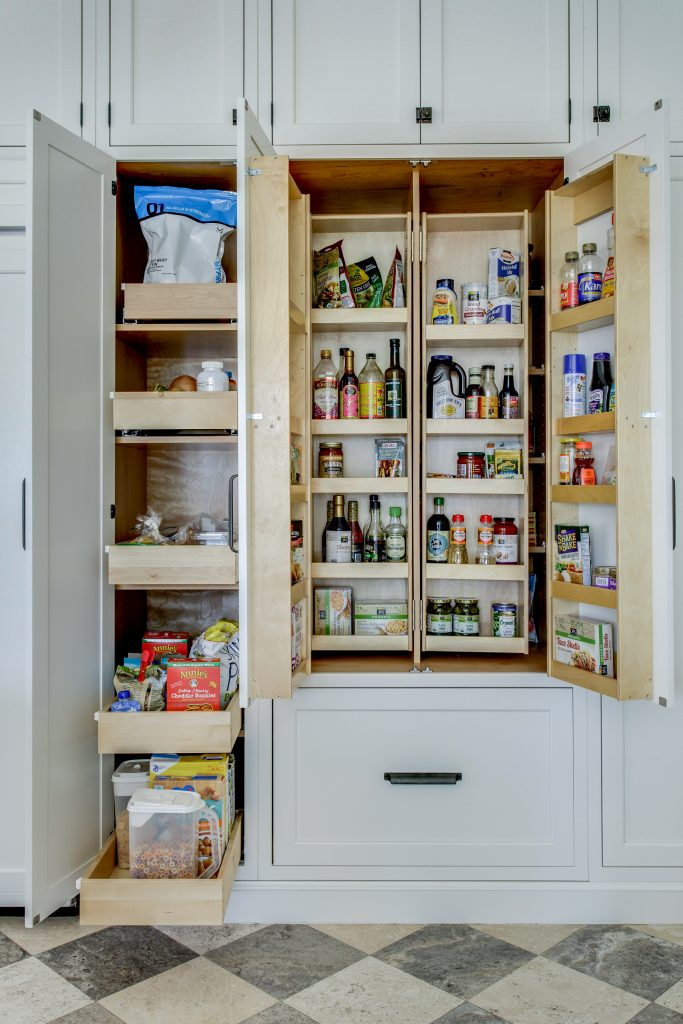 cabinet with roll out trays and chefs pantry, dallas, kitchen design concepts