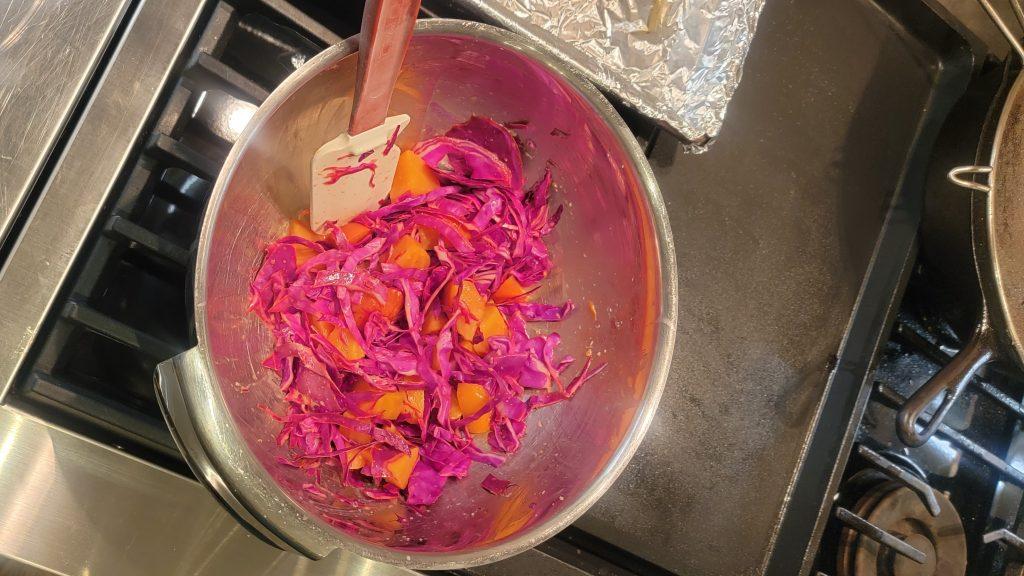 beet salad prep