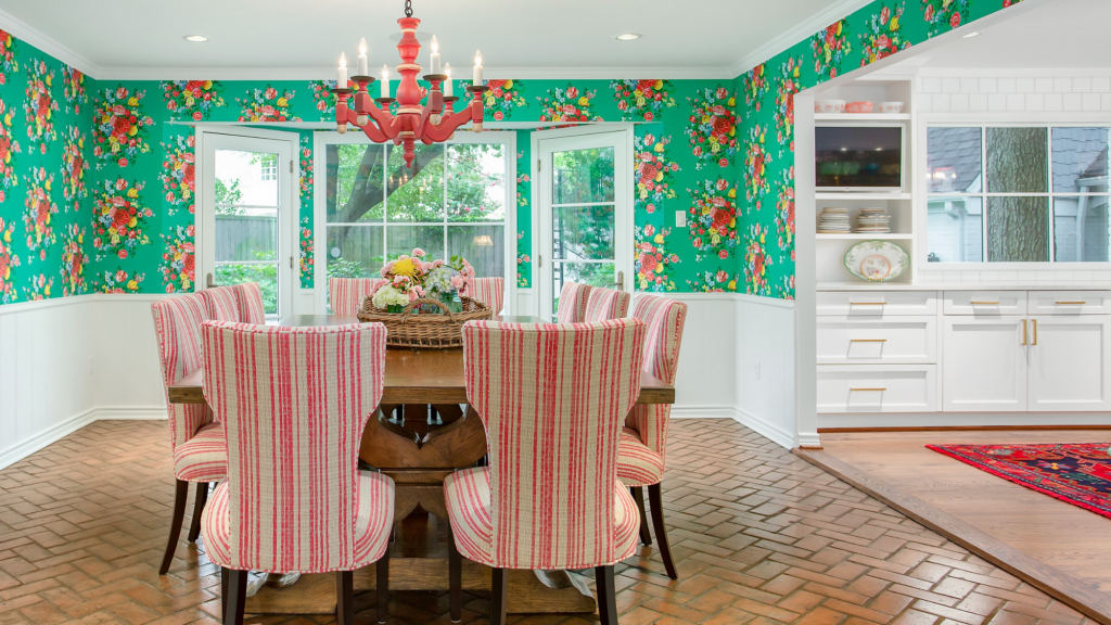 colorful kitchen dining room dallas texas