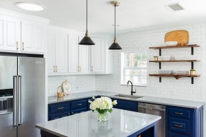 traditional kitchen revive blue white